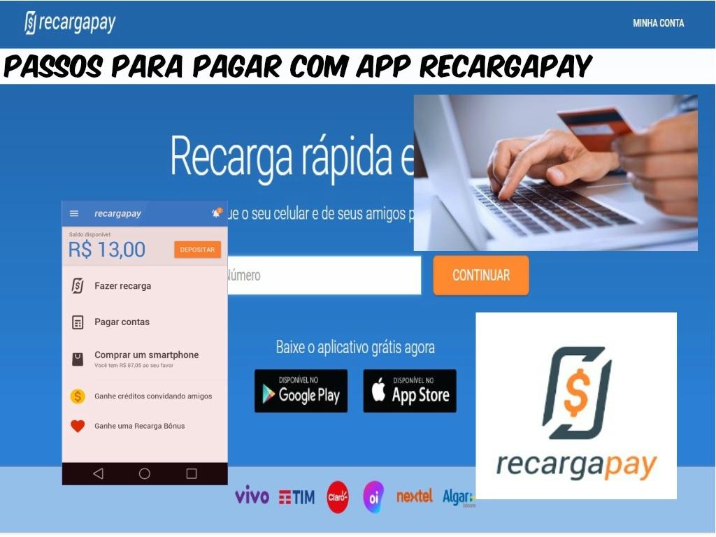 Passos para pagar com App Recargapay