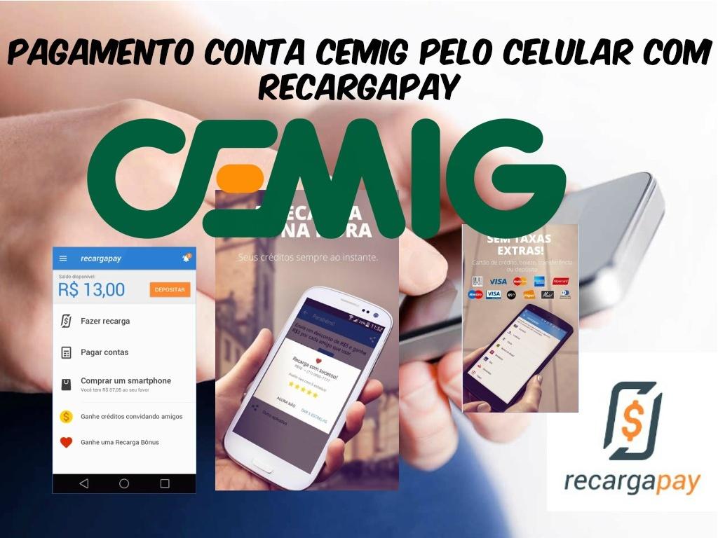 pagamento conta CEMIG pelo celular