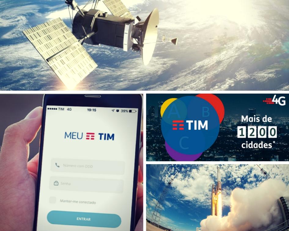 A empresa de telefonia Tím em São Paulo Lança um novo satélite