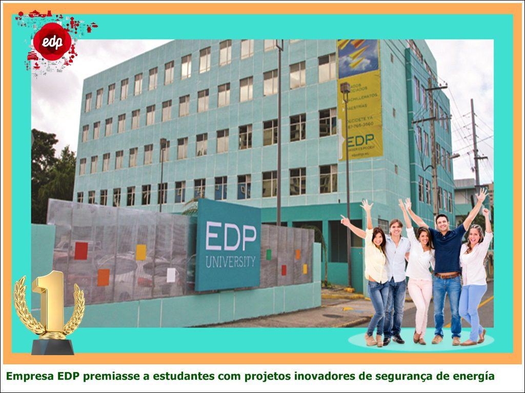Empresa EDP premiasse a estudantes com projetos inovadores de segurança de energía