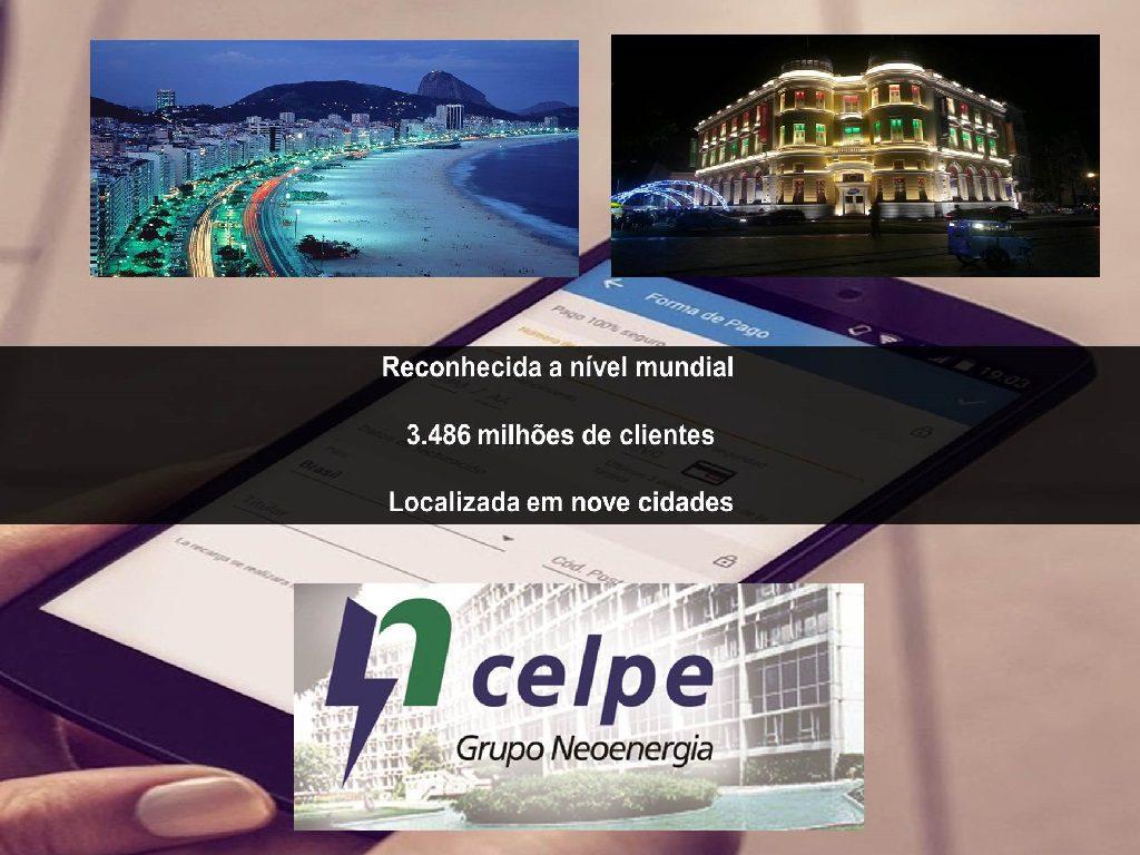 A empresa CELPE no Recife uma das mais reconhecidas e com mais clientes do pais
