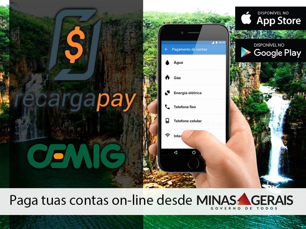 Com teu celular para tuas contas online em Minas Gerais