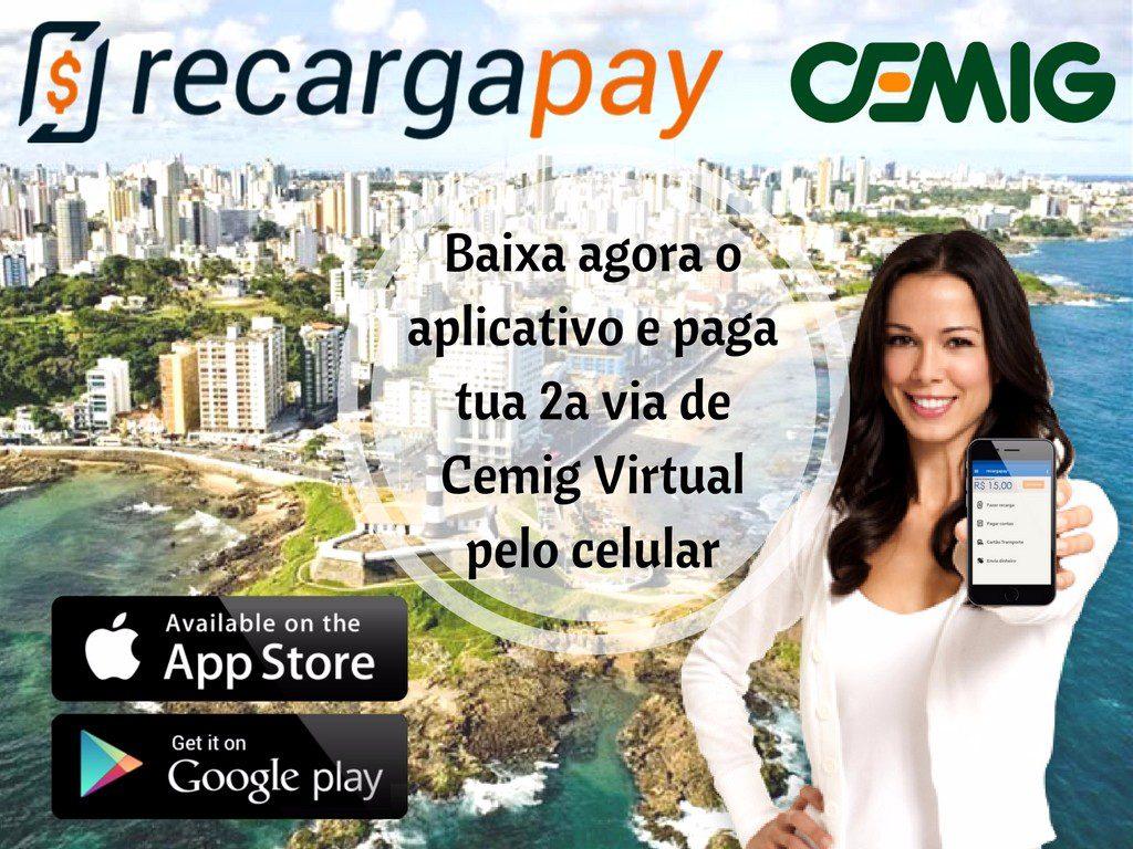 Baixe a app de pagamento da 2a via de conta Cemig