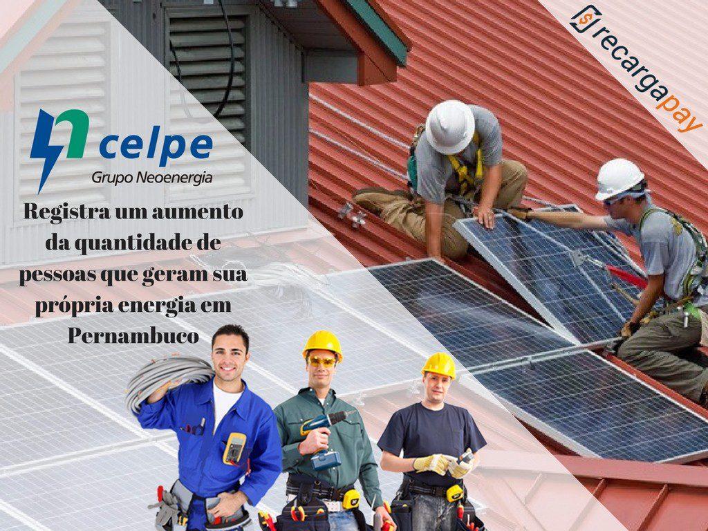 A cada vez as pessoas auto geram sua energia elétrica em Pernambuco