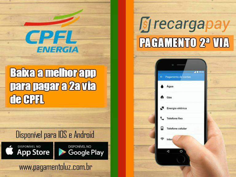 Aplicativo para pagar a 2a via de luz CPFL pelo celular