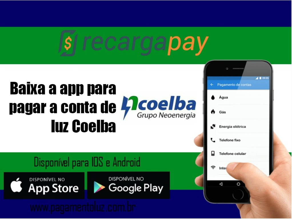 Baixar app para pagar a conta de luz Coelba