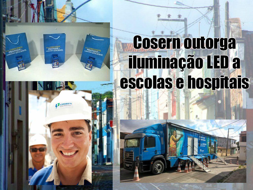 Cosern outorga iluminação LED a escolas e hospitais