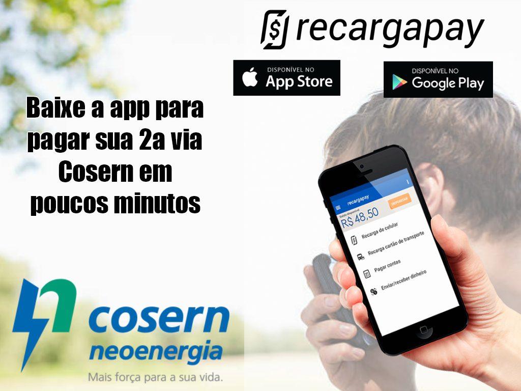 Baixe a app para pagar sua 2a via Cosern