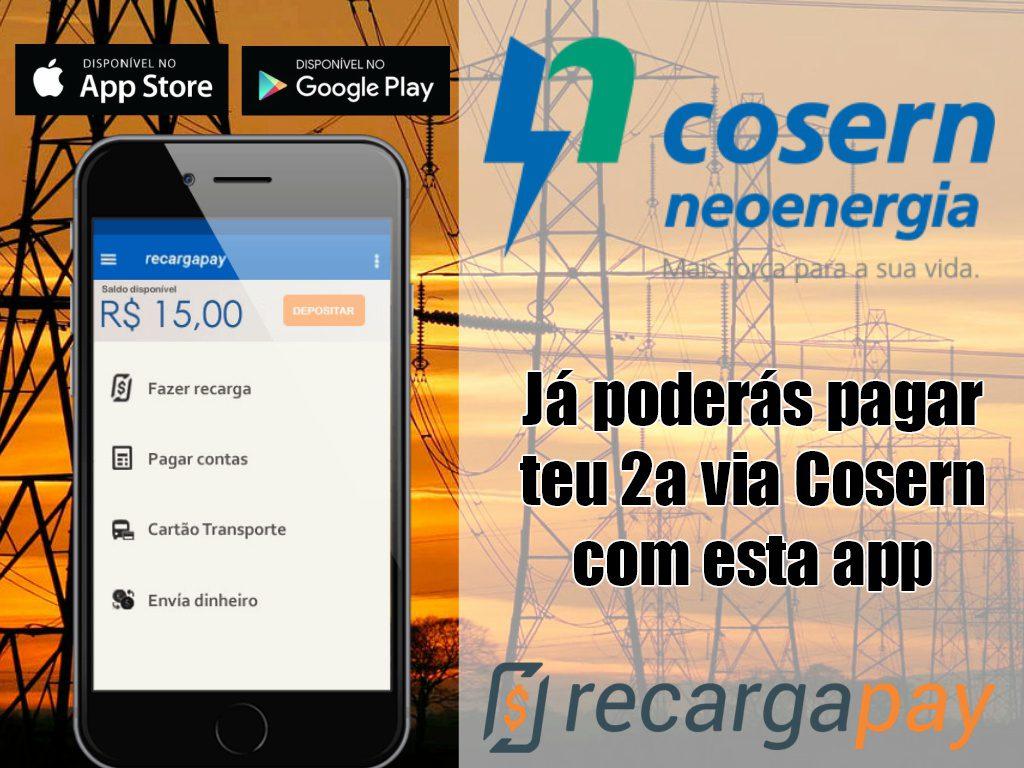 Já poderás pagar sua 2a via Cosern com esta app