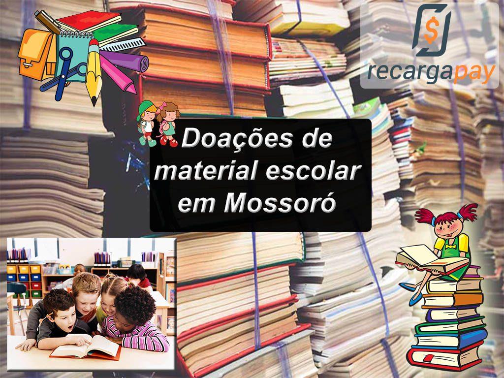 Doações de material escolar em Mossoró