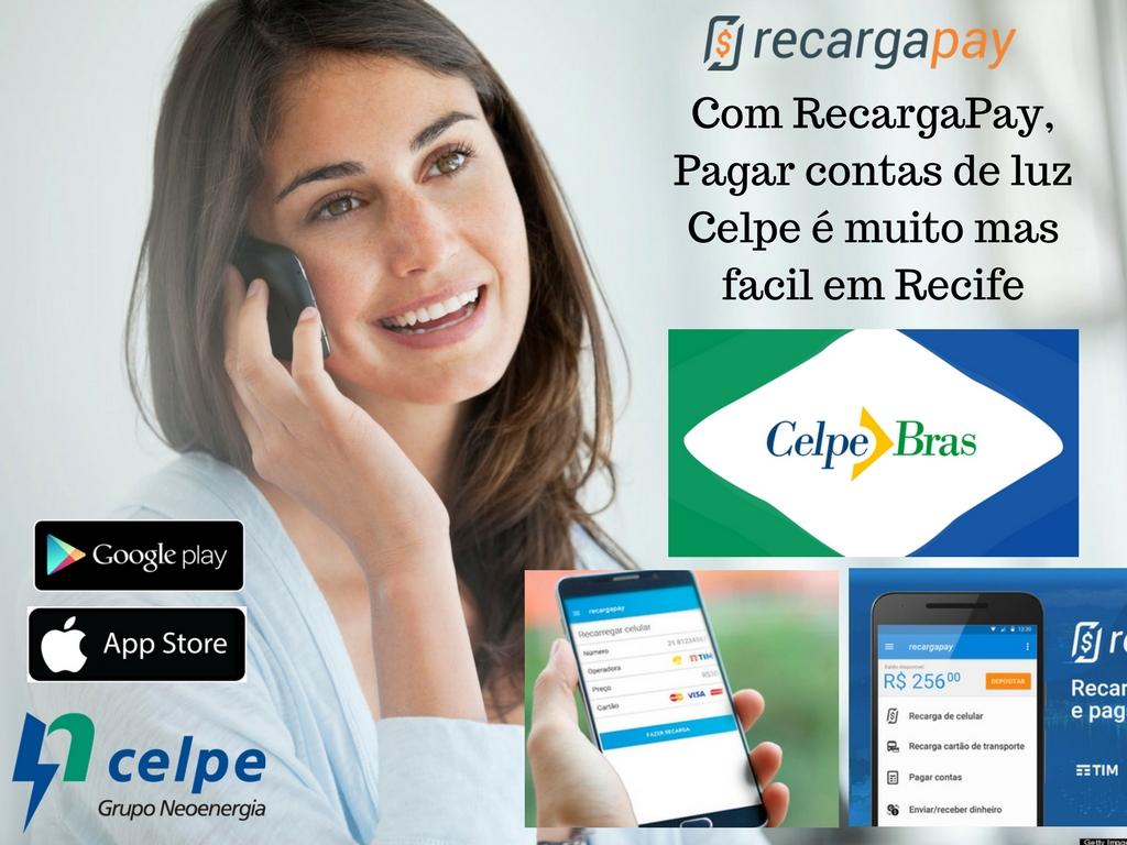 Pagar contas de luz Celpe com RecargaPay