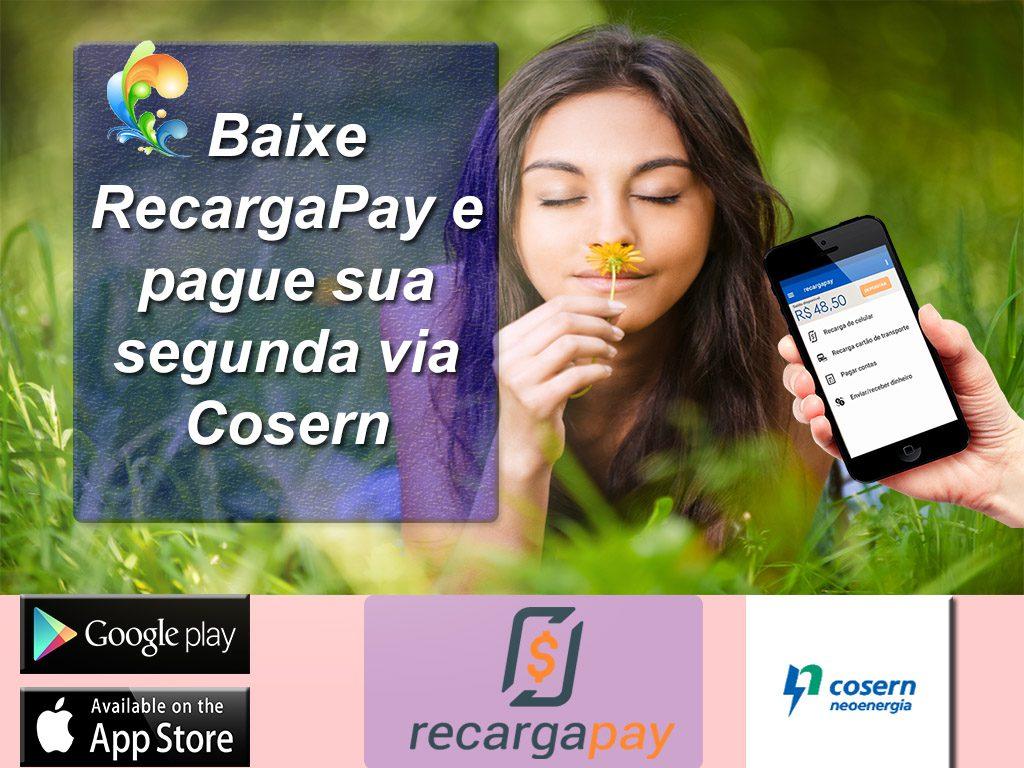 Baixe RecargaPay e pague sua segunda via Cosern