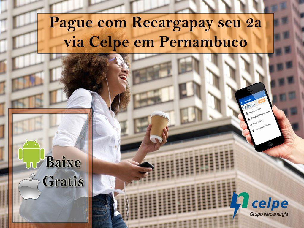 Pague com Recargapay seu 2a via Celpe em Pernambuco
