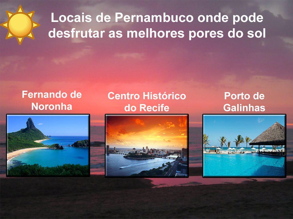 Locais de Pernambuco onde pode desfrutar as melhores pores do sol