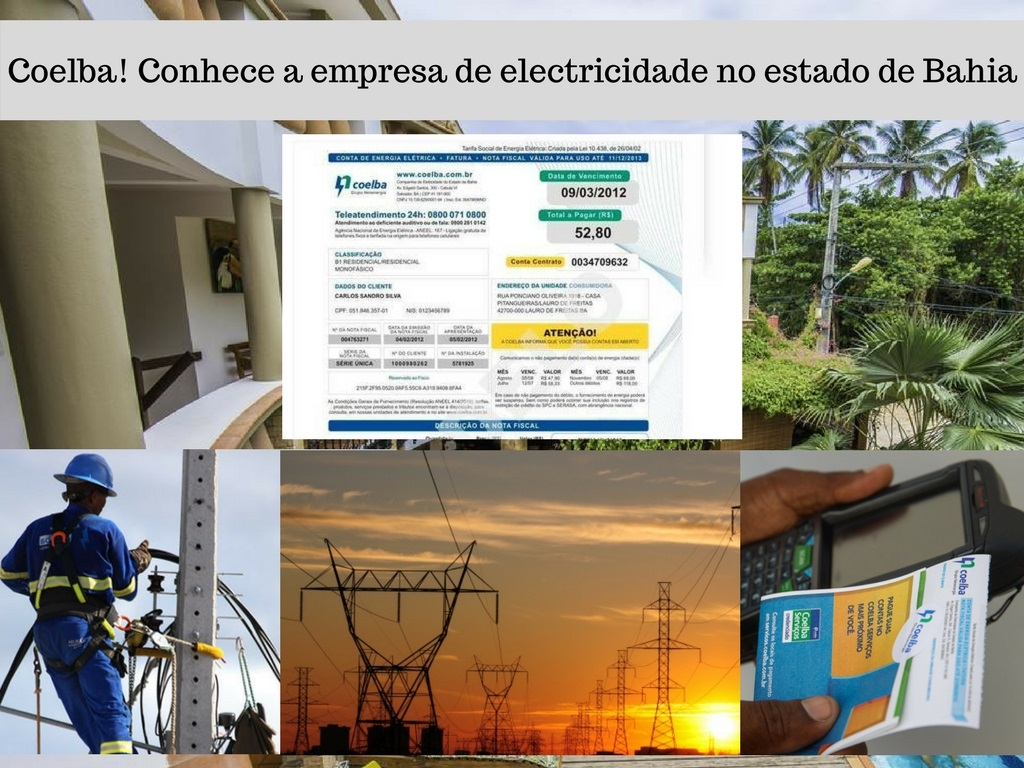 Empresa de electricidade Coelba em Bahia