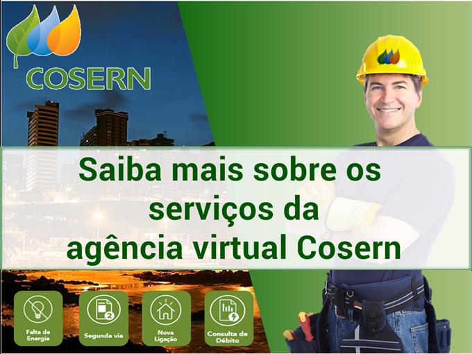 Serviços da agência virtual Cosern