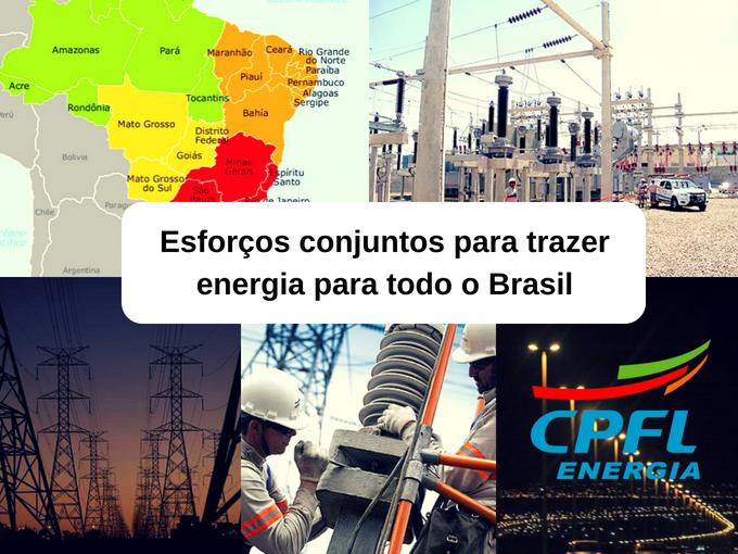 Distribuição de energia do Brasil de acordo com CPFL