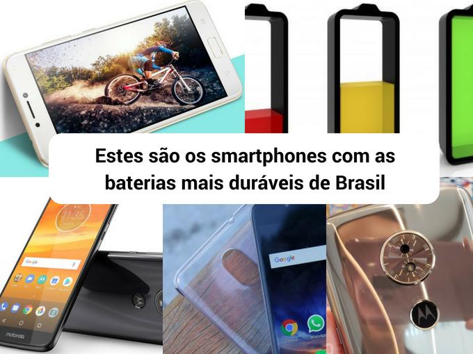 Telefones que prometem longas horas de uso