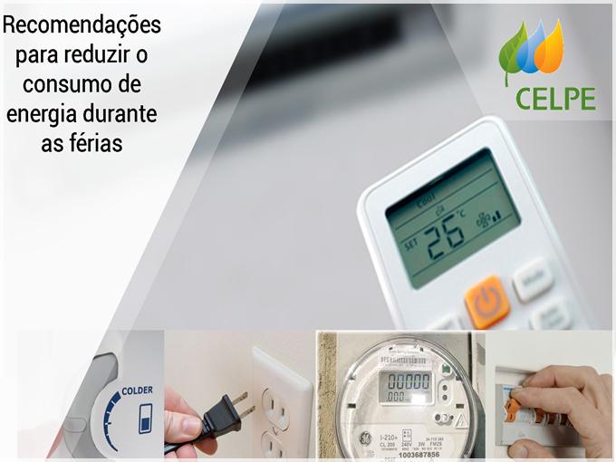 Veja as recomendações da Celpe para reduzir o consumo de energia durante as férias
