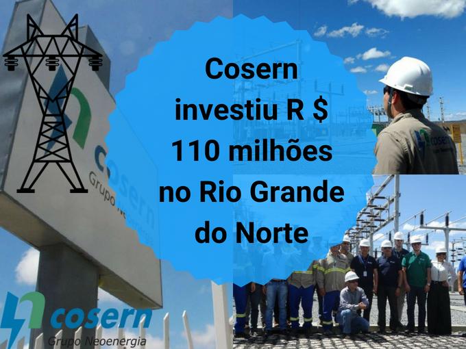Cosern fez grandes investimentos no Rio Grande do Norte