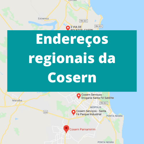 Endereços regionais da Cosern