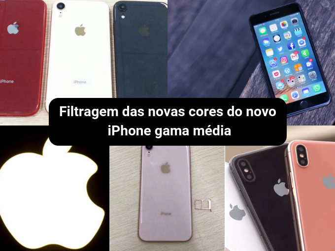 Novas cores para o novo iPhone