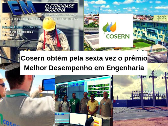Cosern recebe prêmio por sua engenharia