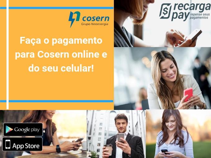 Faça o pagamento para Cosern online e do seu celular!