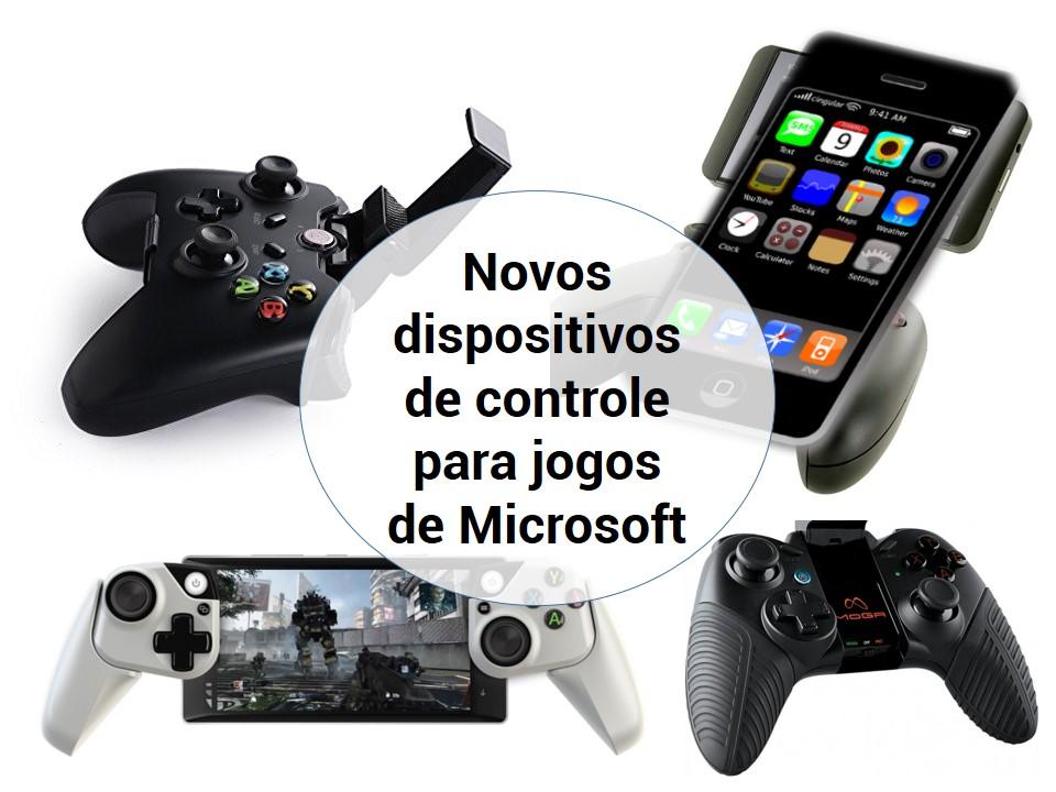 Novos dispositivos de controle para jogos de Microsoft