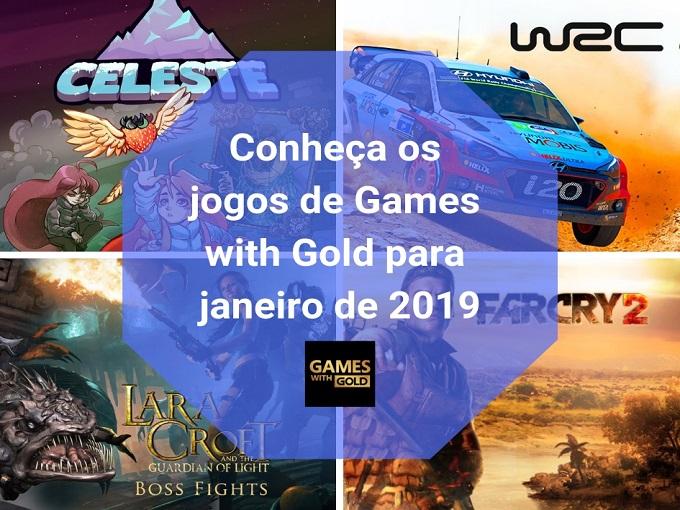 Conheça os jogos de Games with Gold para janeiro de 2019