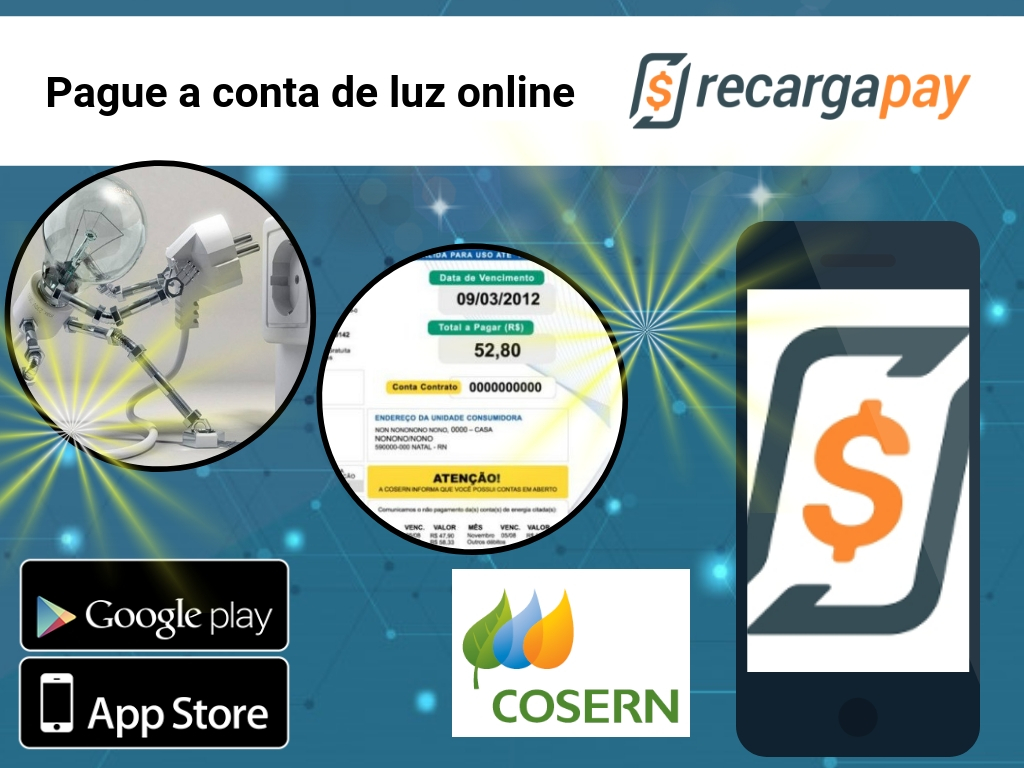 Pague sua conta Cosern com RecargaPay