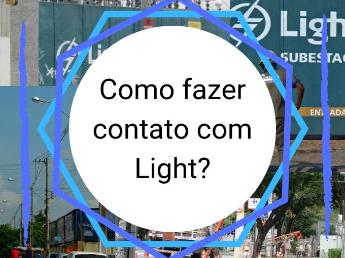 Como fazer contato com Light?