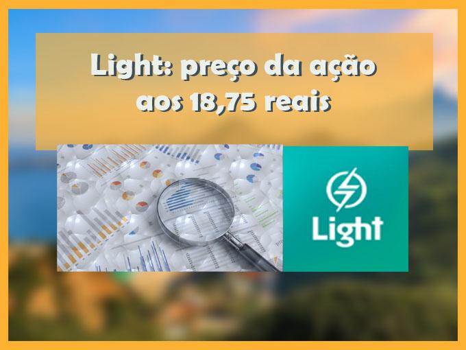 Light: preço da ação aos 18,75 reais