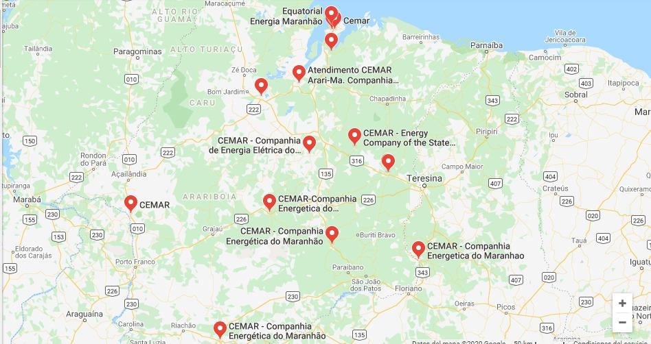 Mapa Cemar