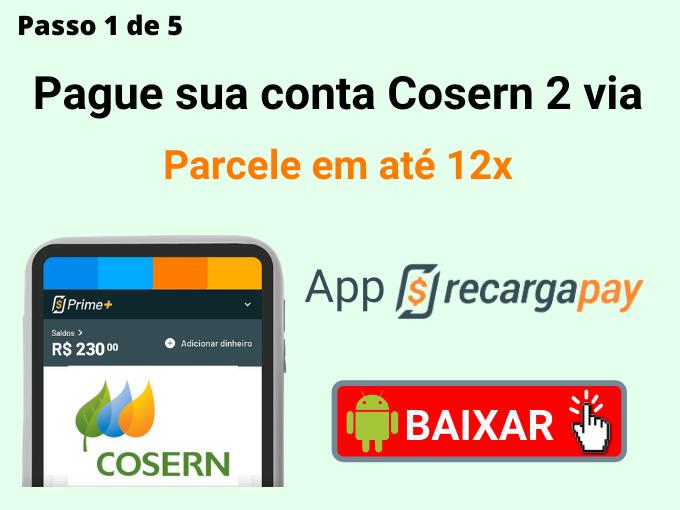 Passo 1 de 5 para pagar conta Cosern 2 via