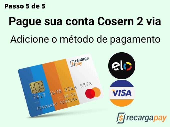 Passo 5 de 5 para pagar conta Cosern 2 via