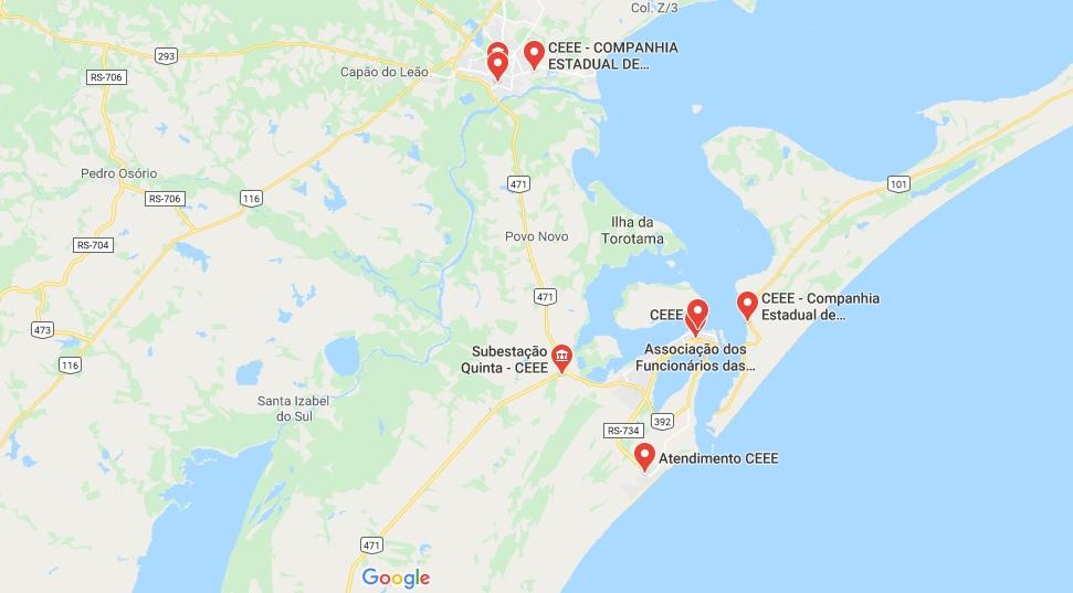 Escritórios de CEEE no Rio Grande do Sul