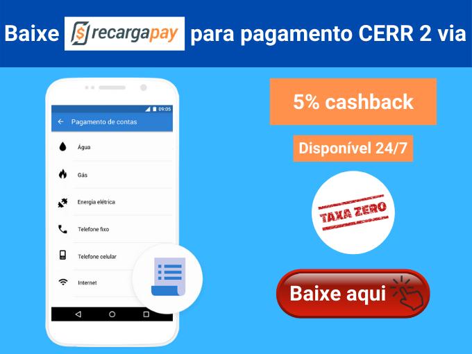 Como pagar CERR 2 via com RecargaPay