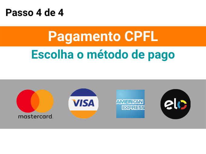 Escolha o método de pagoEscolha o método de pago